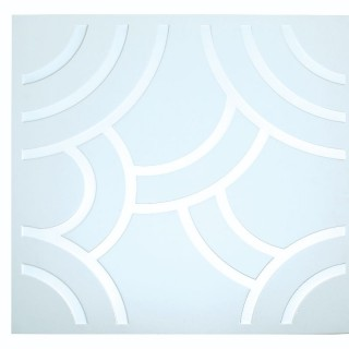Alum Clip-In YHYX-007 (silver&white) Ceiling Tiles 600x600